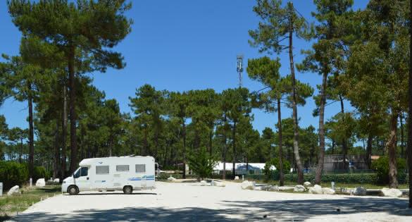 Aire de camping-car de la Pinède Montalivet - © Médoc Atlantique
