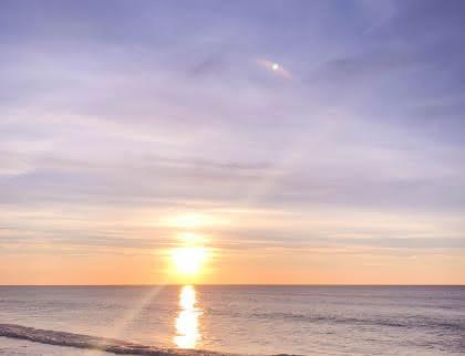 Coucher de soleil hiver Lacanau