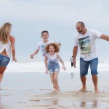Famille océan 1 - © Isabelle Magendie - plage de Lacanau - Médoc Atlantique