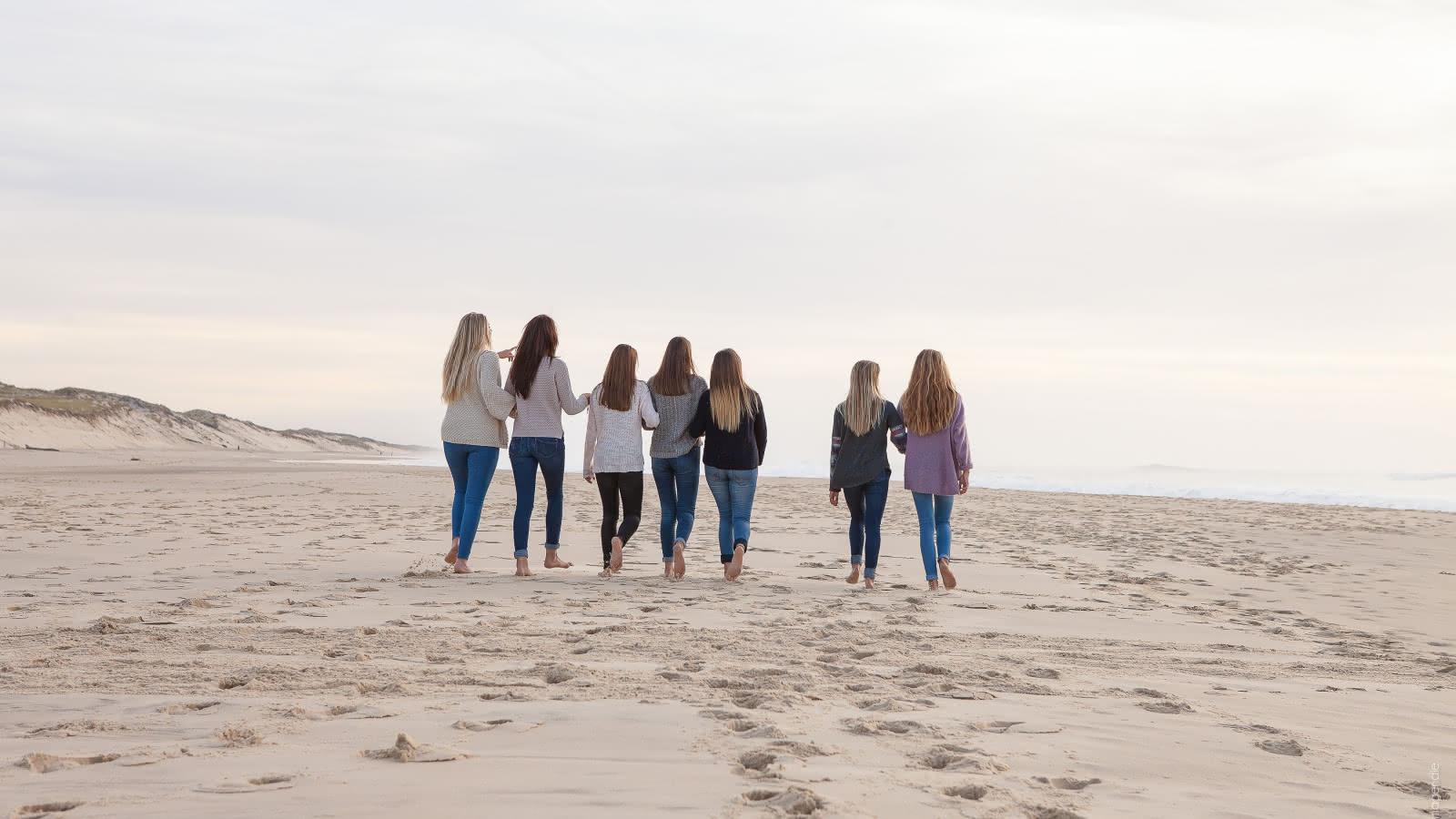 Groupe de fille océan