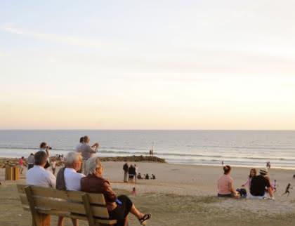 plage - coucher de soleil montalivet