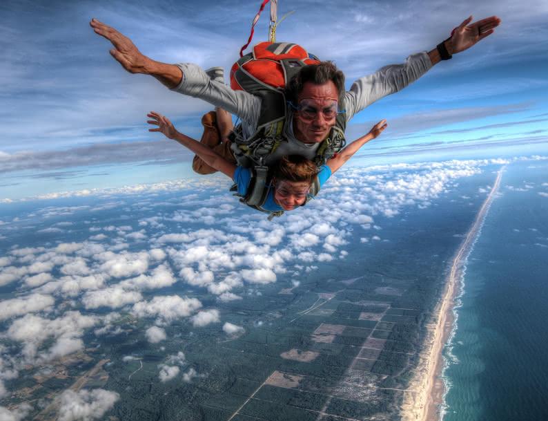 parachute Vendays-Montalivet activité de plein air