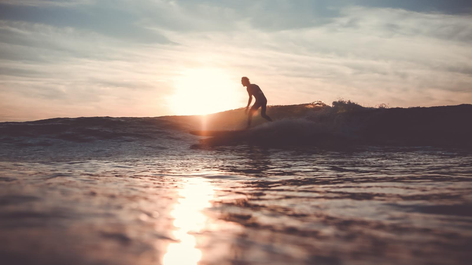 Surfeur Coucher de soleil (c) Greg Bronard