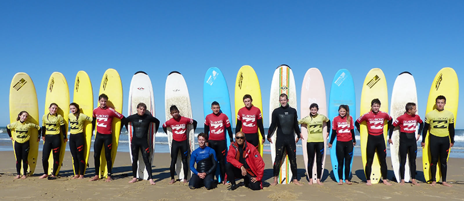 Ecole surf- Boco - Lacanau -groupe