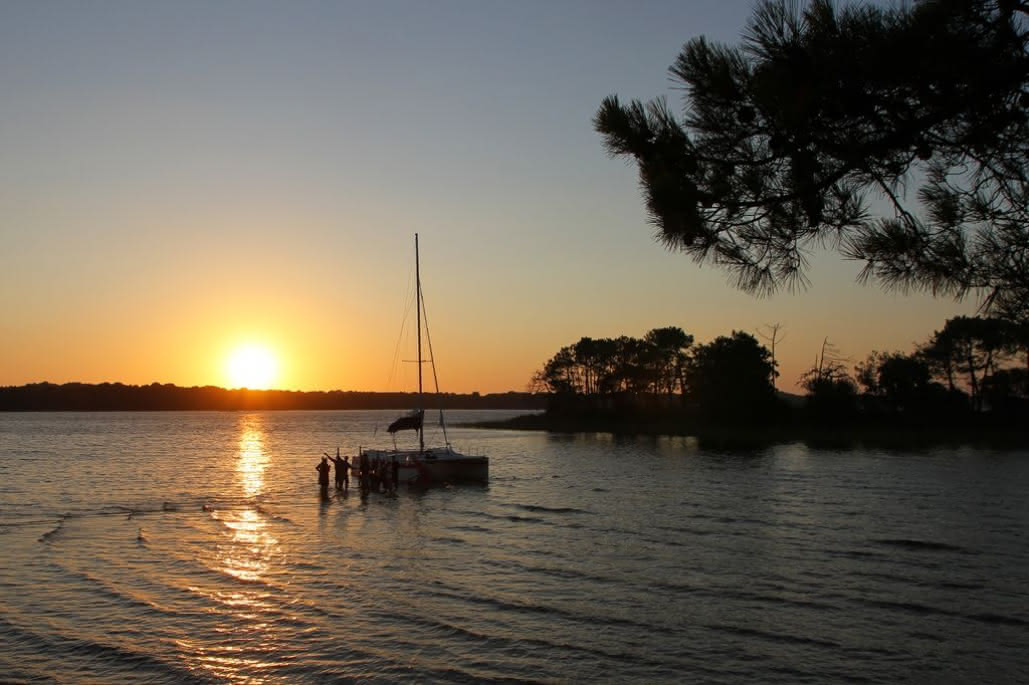 Sortie guidée-Mahi Mahi-Lacanau-coucher de soleil