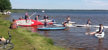 Activité Nautique Cris Loisirs Stand Up Kayak Lacanau 3