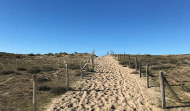 accès plage Vensac