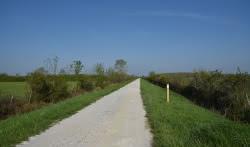 grande boucle 1ere partie parcours à travers les prairies